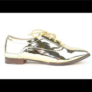 ⭐️ Lace-up Women's Oxford Shoe Gold